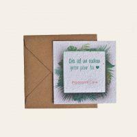 Carte cadeau papier ensemencé